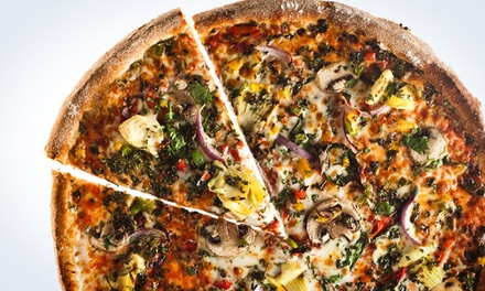 Two Pizzas with Salad, Drinks, and Cinnamon Swirls or $12 for $20 Worth of Pizza at Naked Pizza (Up to 42% Off)