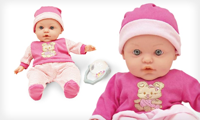 Little Baby Doll with Rattle: $15 for a Little Baby Doll with Rattle ($19.99 List Price). Free Shipping.