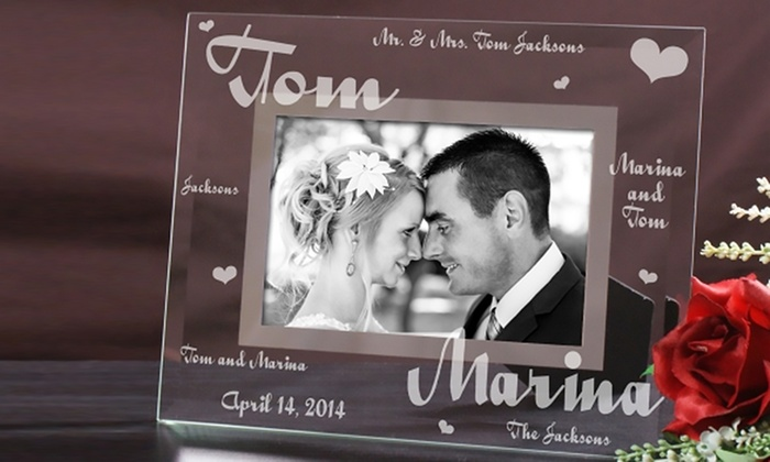 Custom Glass Picture Frames from GiftsForYouNow.com (1 or 2-Pack ...
