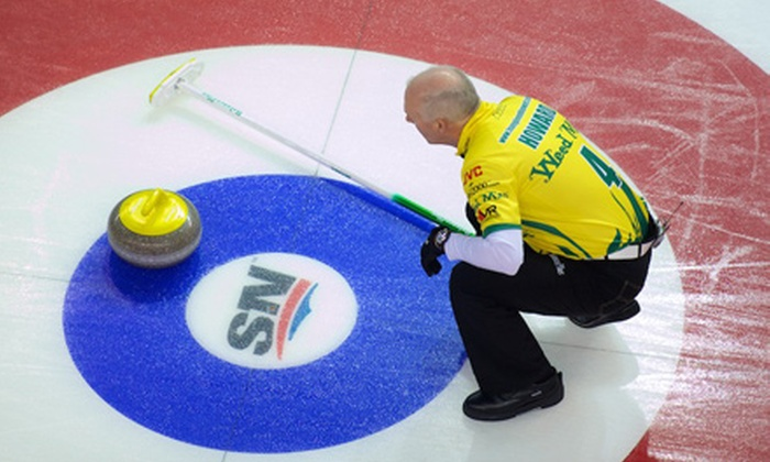 The Masters – Grand Slam of Curling - Abbotsford Centre: The Masters Grand Slam of Curling at Abbotsford Entertainment & Sports Centre (Up to 57% Off). Four Options Available.