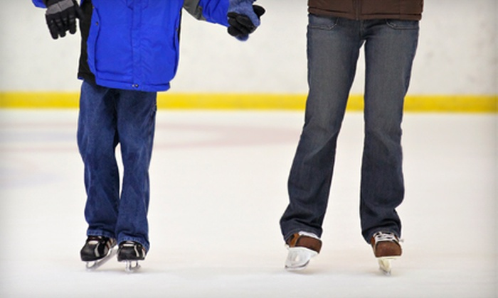 Space Coast Iceplex - Rockledge: Ice Skating Packages with Skate Rental and Drinks for Two, Four, or Eight at Space Coast Iceplex (Up to 55% Off)