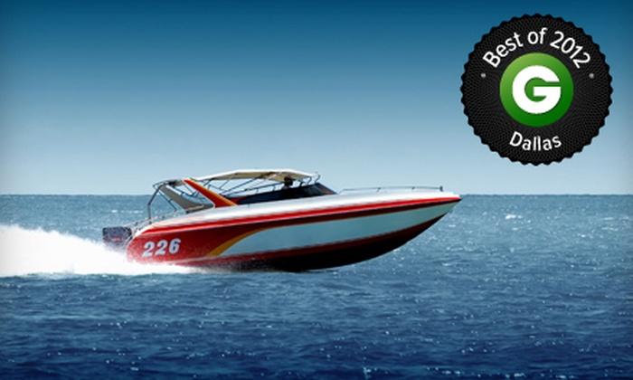Lynn Creek Marina - Grand Prairie: Four-Hour Pontoon- or Ski-Boat Rental from Lynn Creek Marina (Up to 57% Off)