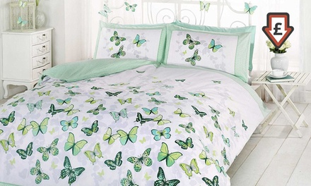 Rapport Home Reversible Flutter Duvet Cover Set in Choice of Size and Colour