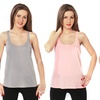 3-Pack of Women's Tank Tops in Regular and Plus Sizes