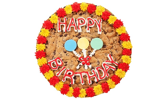 Mrs. Fields Cookies - Crabtree Valley Mall: 16-Inch Cookie Cake or a Half-Sheet Single-Layer Cake at Mrs. Fields Cookies (Up to 51% Off)