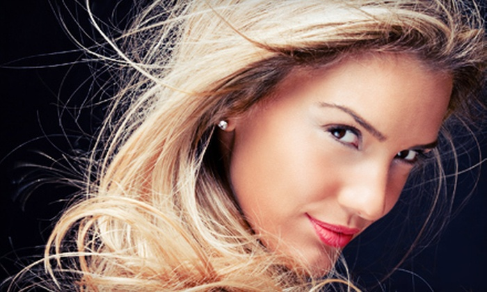Rain Salon and Spa - Fall Creek: Women's Haircut-and-Color Package or Three Men's Haircuts at Rain Salon and Spa in Noblesville (Up to 59% Off)