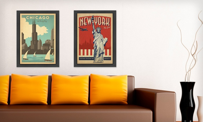 """Framed Vintage-Style Travel Prints: $39.99 for 20.5""""x26.5"""" Vintage-Style Print ($105 List Price). 14 Styles Available. Free Shipping."""
