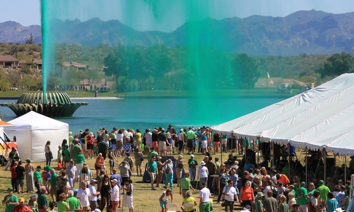 Fountain Hills St. Patrick's Festival - Fountain Hills St. Pat's at the Fountain: Fountain Hills St. Patrick's Festival for Two or Four at Fountain Park on Sunday, March 13 (50% Off)