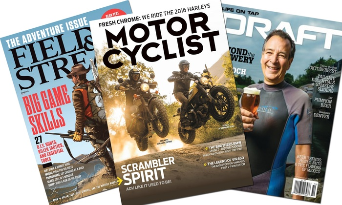 Blue Dolphin Magazines: Subscriptions to Outdoor Lifestyle, Motorcycling, Pop Science, and Photography Magazines (Up to 75% Off). 12 Options.