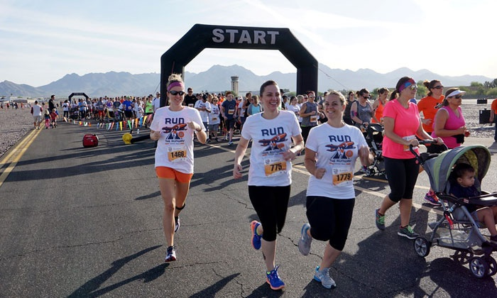 Run the Runway AZ - Scottsdale Airport: Run The Runway 5K or 10K Registration for One or Two (Up to 51% Off)