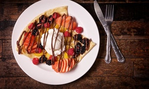 What Crepe: Sweet and Savory Crepes and Drinks for Dine-In or Carryout at What Crepe (Up to 40% Off). Three Options.