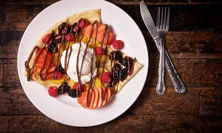 Sweet and Savory Crepes and Drinks for Dine-In or Carryout at What Crepe (Up to 40% Off). Three Options.