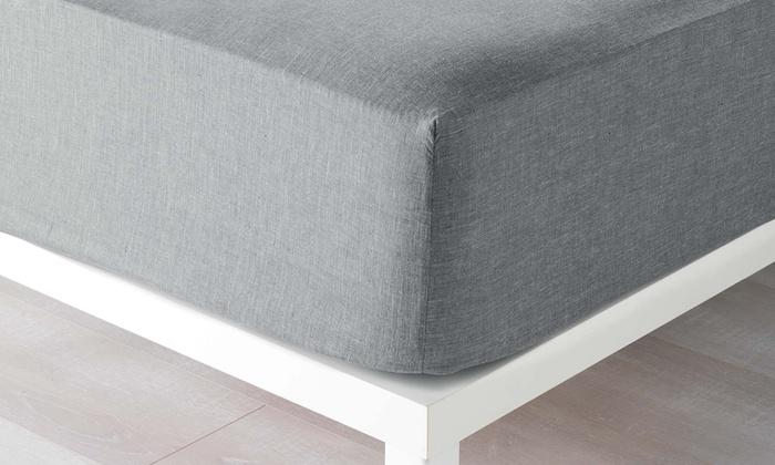 jusqu 39 9 drap housse extensible groupon. Black Bedroom Furniture Sets. Home Design Ideas