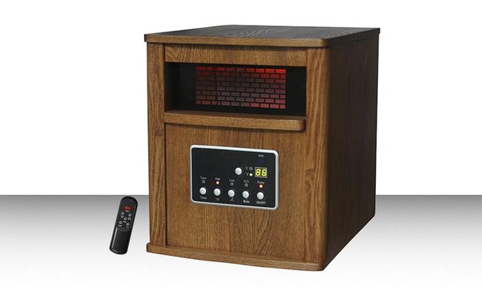 Lifesmart Infrared Six-Element Electric Heater with Wood Cabinet: Lifesmart Infrared Six-Element Electric Heater with Wood Cabinet. Free Returns.