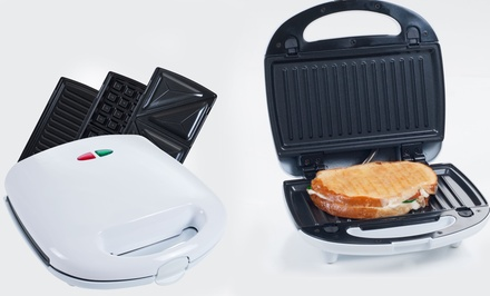 3-in-1 Sandwich Press, Panini Maker, and Waffle Iron