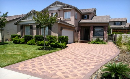 Paver Sealant for a One-Car Garage, Patio, or Pool Deck Up to 400 Square Feet (a $580 value)  - Modern Paving in