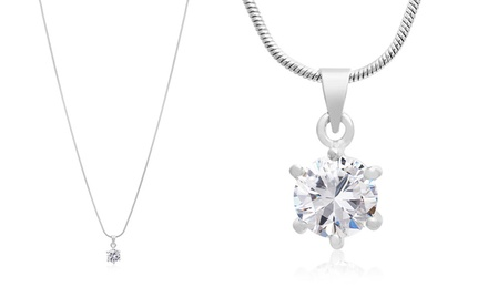 2.00 CTW Solitaire Pendant with Swarovski Elements
