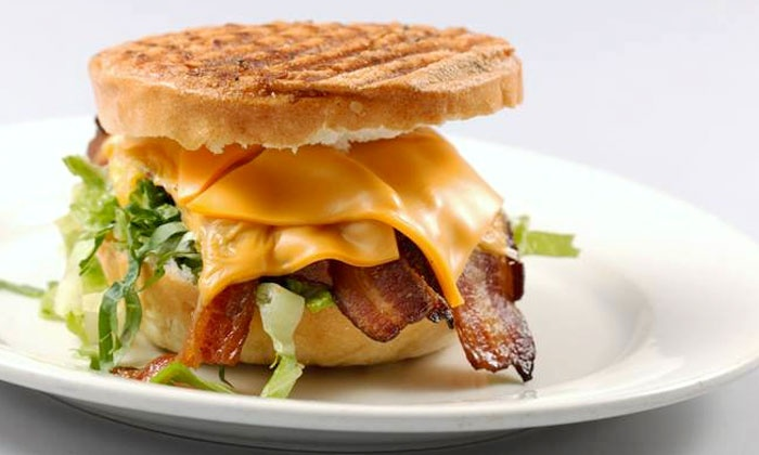 Paninis and Bikinis - Long Beach: Three or Five Groupons, Each Good for a Panini or Salad at Paninis and Bikinis (Up to 55% Off)