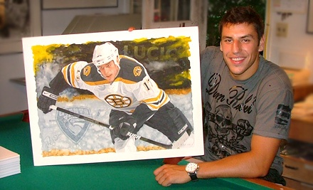 "$119 for a Signed 23.5""x17"" Milan Lucic Print from GreatSportsArt.com ($330 Value)"