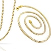 Diamond Cut Franco Chain in 18K Gold Plated Sterling Silver