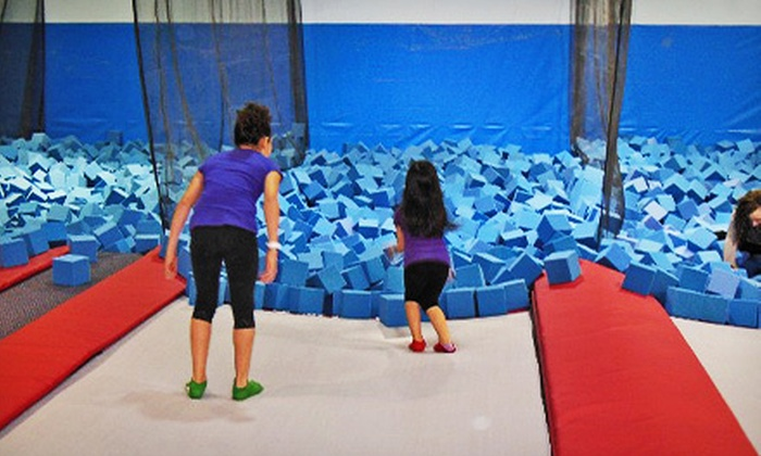 Xtreme Hang Time Trampoline Park - Midtown Business Park: One Hour of Jump Time for Two or Four at Xtreme Hang Time Trampoline Park (Half Off). Three Options Available.