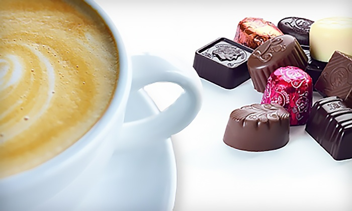 Leonidas Chocolate Café - Multiple Locations: $10 for a Chocolate Tasting for Two with Six Pieces of Chocolate and Two Toasted Almond Mocha Lattes at Leonidas Chocolate Café ($19.10 Value)