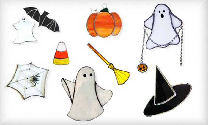 Stained Glass by Judy - Columbia Heights: Halloween-Themed Stained-Glass Sun-Catcher-Making Class for One or Two at Stained Glass By Judy (Up to 63% Off)