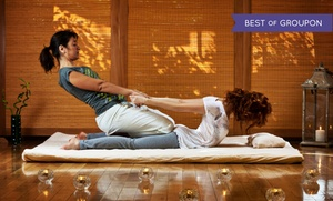 Wat Po Thai Spa: Individual's or Couples Thai Massage with a Foot Scrub or Paraffin Treatment at Wat Po Thai Spa (Up to 56%Off)