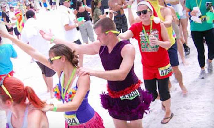 Beach Dash Galveston: $27 for Entry for One to the Beach Dash Obstacle Run on Saturday, October 6, from Red Frog Events ($60 Value)