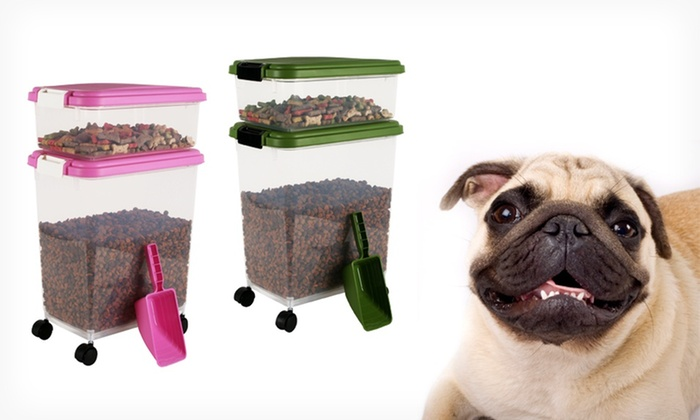 Airtight Pet-Food Storage Container Set: $22.99 for a 3-Piece Airtight Pet-Food Storage Container Set ($39.99 List Price). Free Shipping and Returns.