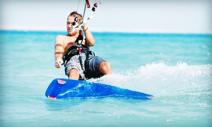 Cosmic Kites Kiteboarding - Tobay Beach: Kiteboarding Lessons for One or Two with Land or Land and Water Instruction from Cosmic Kites Kiteboarding