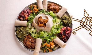 Lalibela Ethiopian Restaurant: Ethiopian Food for 2 or 4, Valid Monday–Thursday or Any Day at Lalibela Ethiopian Restaurant (Up to 56% Off)