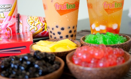 $6 for $10 Worth of Bubble Tea and Smoothies at Fruitealicious. Four Locations Available.