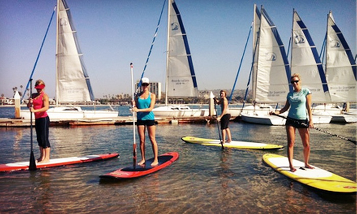 OEX Mission Bay - Mission Beach: $45 for a Beginners' Standup-Paddleboarding Class for Two at OEX Mission Bay ($90 Value)