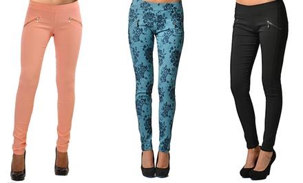 Women's Cross-Zipper Leggings