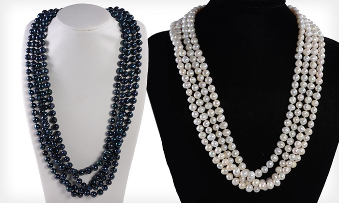 Freshwater-Pearl Necklace: $29 for a White or Peacock Freshwater-Pearl Necklace ($199 List Price). Free Shipping.