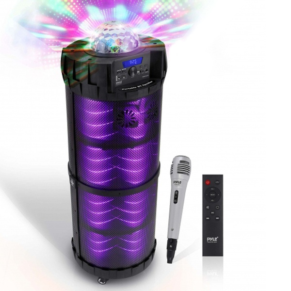 Flashing LED Party Lights etc Portable Bluetooth Wireless BoomBox Stereo System
