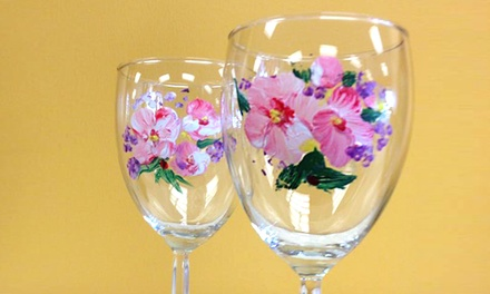 One or Two Wine-Glass Painting and Pairing Classes at The Heart of the Gourmet (50% Off)
