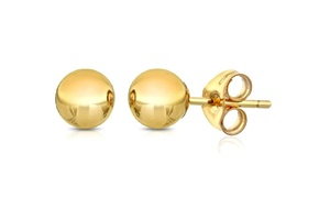 14K Solid Gold 2.5mm Plain Ball Stud Earrings at 14K Solid Gold 2.5mm Plain Ball Stud Earrings, plus 6.0% Cash Back from Ebates.