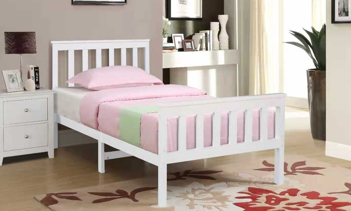 Solid Pine Wood Bed Frame for £86.99