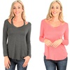 Lyss Loo Women's Cut Me Out Long Sleeve Top