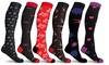 Unisex Valentines Fun Knee-High Compression Socks (3-Pairs)