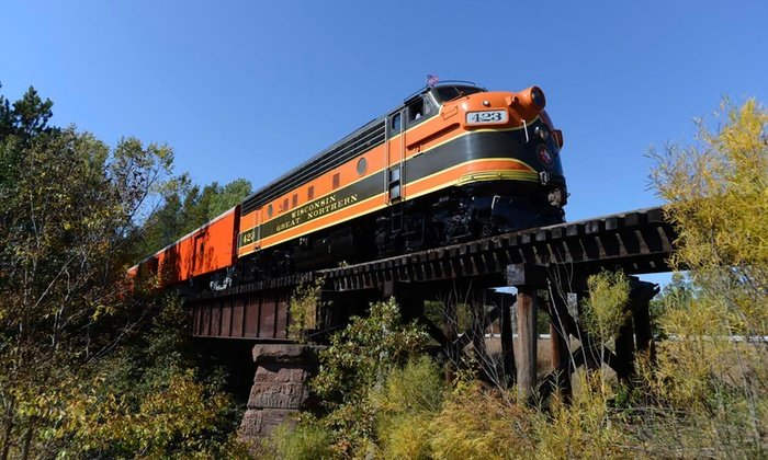 Wisconsin Great Northern Railroad - Trego: Elegant Dinner Train and Motel Stay for Two at Wisconsin Great Northern Railroad (Up to 32% Off)