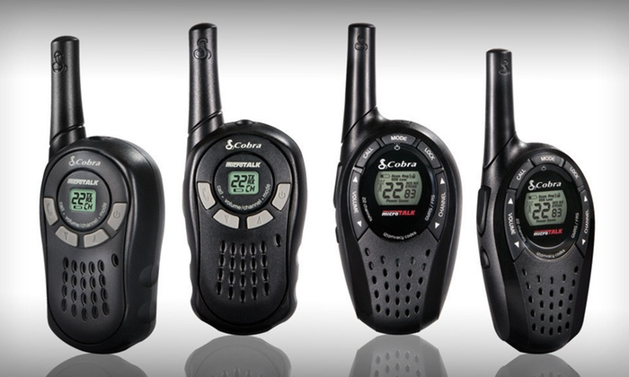 Cobra MicroTalk Two-Way Radios: Cobra MicroTalk Two-Way Radios with 16- or 20-Mile Range Capacity (Up to 58% Off). Free Shipping and Free Returns.