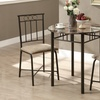 Contemporary Style Bistro Table Set (3-Piece)