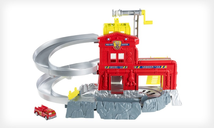 Matchbox Cliff Hangers Fire Station: $19 for a Matchbox Cliff Hangers Fire-Station Play Set with Shipping Included ($27.98 Total Value)