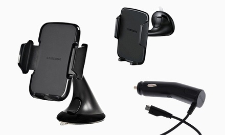Samsung Universal Vehicle Smartphone Mount with Car Charger