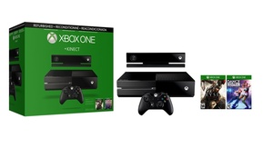 Xbox One Console Bundle with Kinect Sensor and Two Games