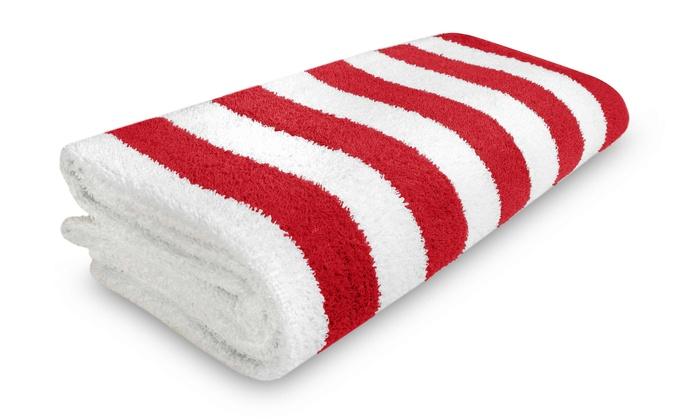 Cabana Stripe Beach Towel Groupon Goods