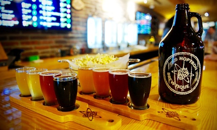 Craft Beer Tasting Package for Two at Hoptron Brewtique (Up to 42% Off). Two Options Available.
